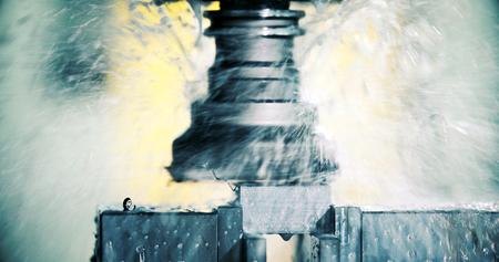 드릴링 cnc 기계와 금속 공장에서 공작 기계 스톡 콘텐츠