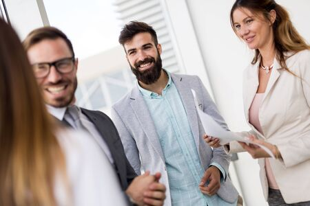 Picture of business people discussing in their company Stock Photo