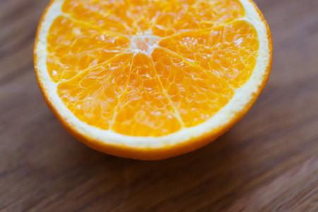 Ripe half of orange citrus fruit Stock fotó