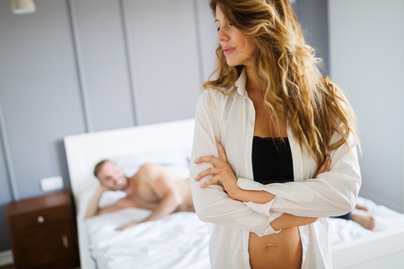 Man and woman having problems in relationship