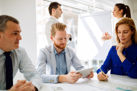 Business people collaborating in office Stock Photo