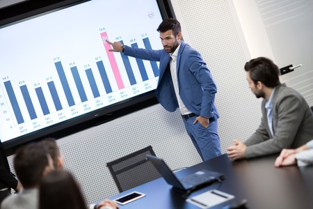 Picture of business meeting in conference room Stock Photo