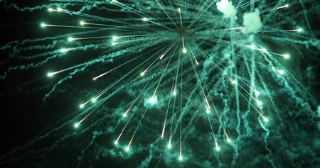 Colorful new year fireworks Stok Fotoğraf