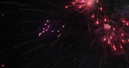 Colorful new year fireworks Stock Photo