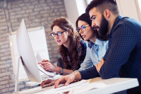Picture of architects working together in office Stock Photo