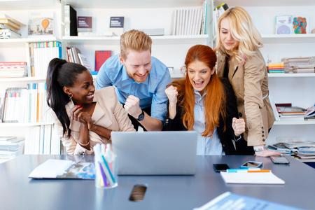 Succesful company celebrates business success