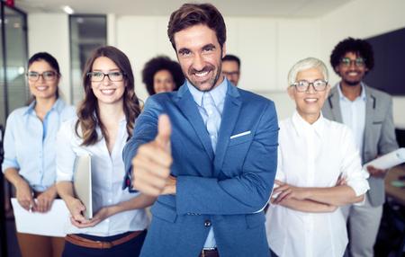 Succesful enterprenours and business people reach goals Foto de archivo