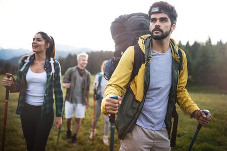Trek Hiking Destination Experience Rucksack Lifestyle-Konzept