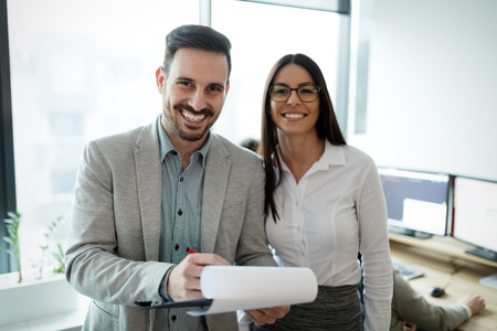 Picture of business people discussing in office Stock Photo