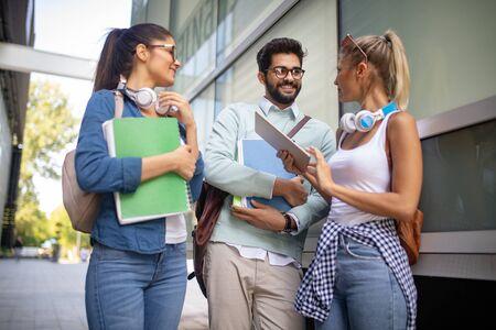 Diversity Students Friends Happiness Teamwork Ideas Concept