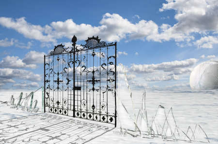 pearly gates: Pearly Gates Stock Photo