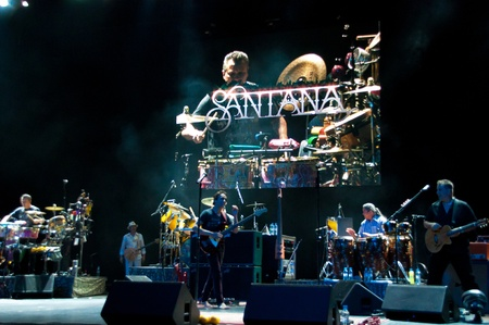 Carlos Santana concert Crocus City Hall in Moscow.  July 17, 2011