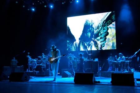 Carlos Santana concert Crocus City Hall in Moscow.  July 17, 2011