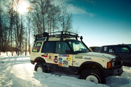 White suv Land Rover Discovery I. Mattrazz Trophy #18. February 19, 2011