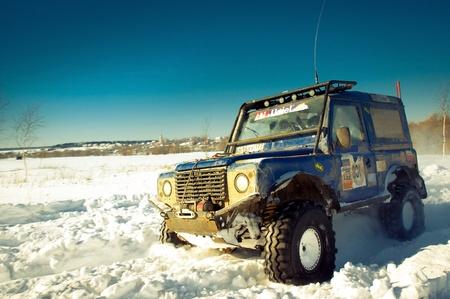 defender: White suv Land Rover Defender 90. Mattrazz Trophy #18. February 19, 2011