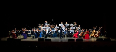 a symphony: Peter Guth and Strauss Festival Orchestra Vienna in concert Crocus City Hall.  Moscow - November 17, 2010 Editorial