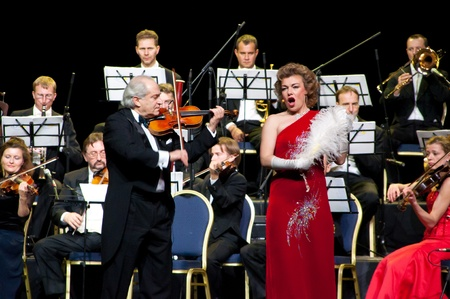 directing: Conductor Peter Guth, singer Monica Mosser and Strauss Festival Orchestra Vienna in concert Crocus City Hall.