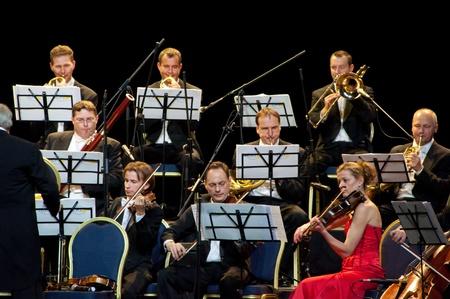 orquesta: De cuerda y viento. Strauss Festival Orchestra de Viena en el concierto de Crocus City Hall. Moscú - 17 de noviembre 2010 Editorial