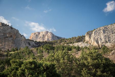 Foros, Republic of Crimea - April 1, 2019: Mountains of the Crimean peninsula