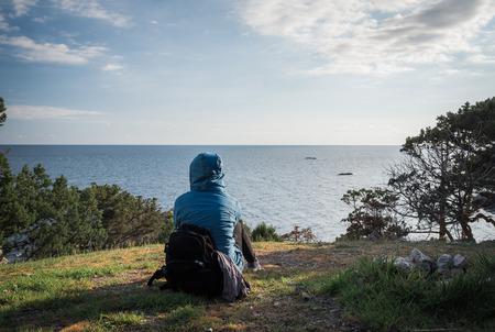 Foros, Republic of Crimea - April 1, 2019: Back of the Crimea Foto de archivo