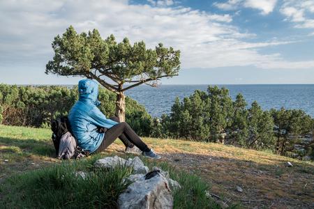 Foros, Republic of Crimea - April 1, 2019: Back of the Crimea