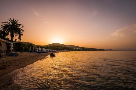 Paralia Gerakinis, Sithonia, Chalkidiki, Greece - June 29, 2014: Paralia Gerakinis on the peninsula Sithonia