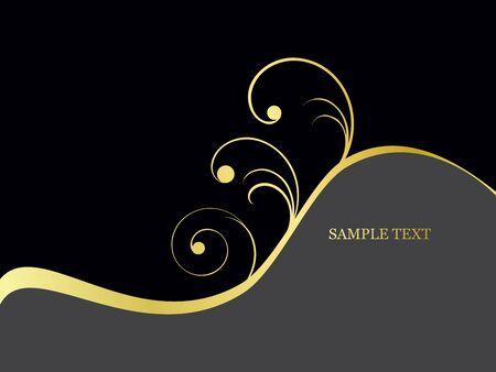 filigree: golden filigree background