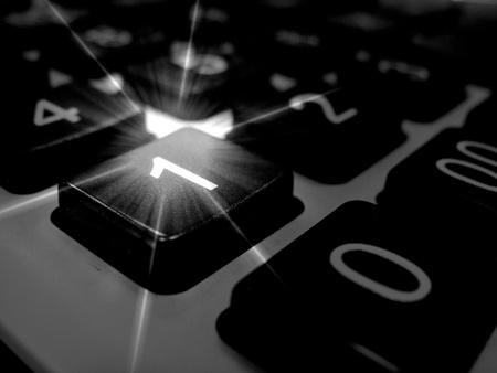 blackwhite: Black-white calculator Stock Photo