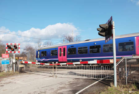 A train passing a level crossing