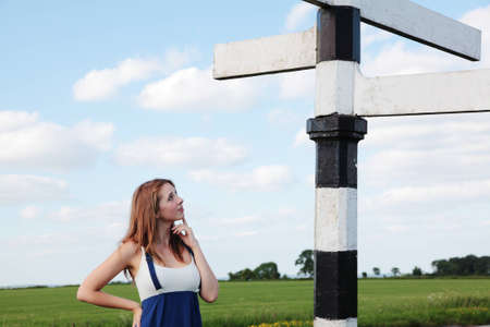 crossroads: Lost Stock Photo