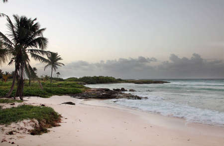 Surfer's point, Barbados early in the morning.