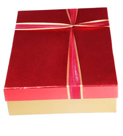 A box containing a present Stock Photo