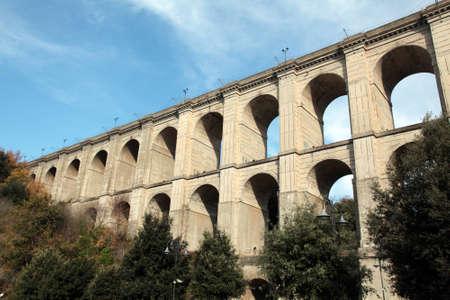 lazio: The bridge in Ariccia, Lazio Stock Photo
