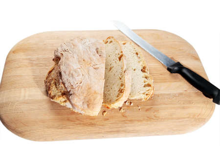 Home made bread on a beautiful wooden chopping board