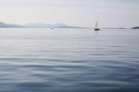 vancouver island: Sailing boats on a calm, beautiful sea