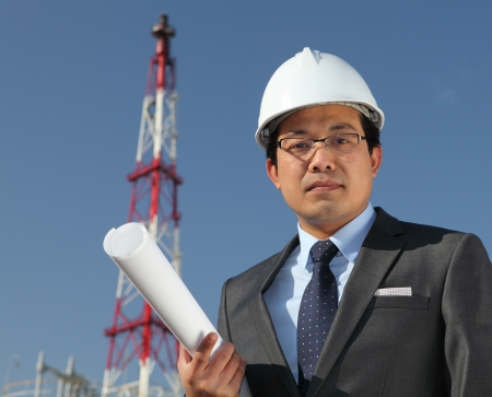 industrial engineer chemical plant Stock Photo