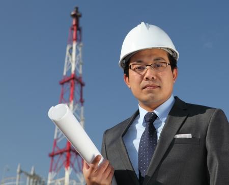 industrial engineer chemical plant Standard-Bild