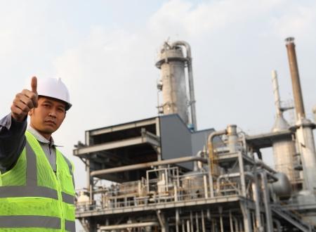 trabajador petrolero: ingeniero de refinería de petróleo