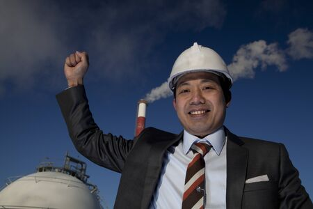 engineer of oil refinery  Stock Photo - 15290548