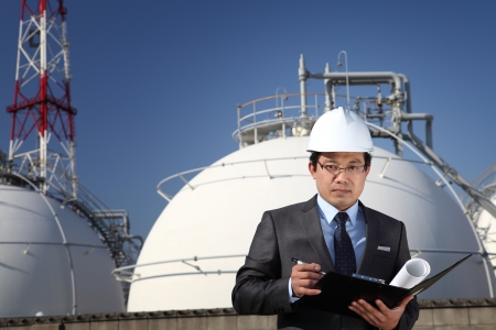 chemical engineering: industrial engineer chemical plant Stock Photo