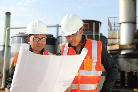 engineer checking a drawing