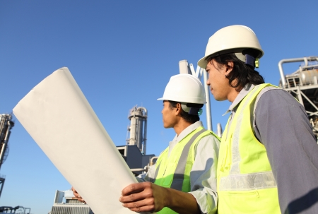 two engineer  discussion on location site Stock Photo - 16521163