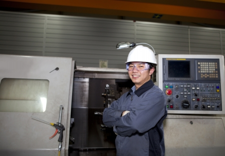 portrait mechanical technician operative of cnc machine Stock Photo - 17345872