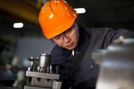 Technician working in factory