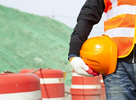 construction safety concept Standard-Bild