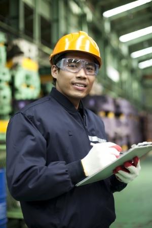 Portrait asiatische Ingenieur lächelnd Standard-Bild - 19838569