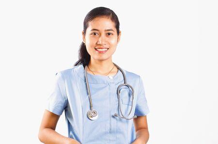 asian nurse: Asian nurse medical isolated on white background