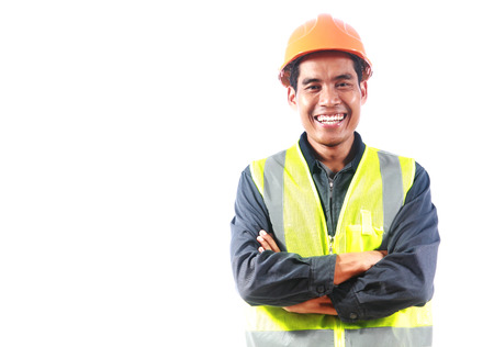 Man engineer isolalated on white background Imagens