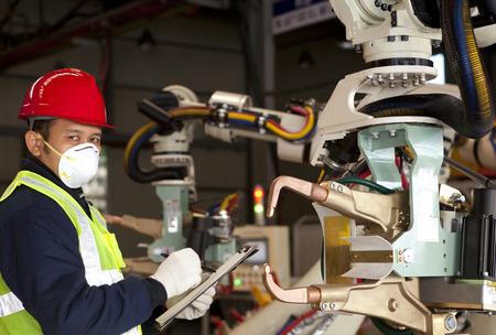 Industrial engineer activity in factory