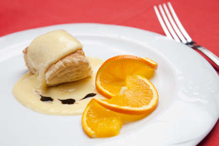 Orange Dessert Standard-Bild